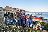 MEXICO, Baja, Magdalena Bay, Pacific Ocean, local resident of the small fishing village, Isla Magdalena