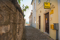 A view of a street in the town of Motovun, Istria County, Croatia