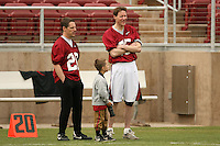 21 April 2007: The alumni during the alumni's 38-33 victory over the coaching staff during a flag football exhibition at Stanford Stadium in Stanford, CA.
