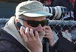 Former newsday photog Phil Davies at a Garden City H.S. baseball game on May 22, 2006. (Photo Copyright Jim Peppler 2006).