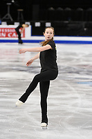 Tuesday, March 29, 2016: Anna Khnychenkova of Ukraine skates during a practice session at the International Skating Union World Championship held at TD Garden, in Boston, Massachusetts. Eric Canha/CSM