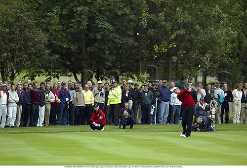 THOMAS BJORN (EUROPE) on the 2nd fairway, opening fourball match,34th Ryder Cup, The Belfry, Sutton Coldfield, 020927. Photo: Glyn Kirk/Action Plus....Golf golfer player 2002.........