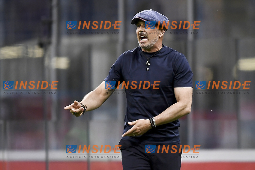 Sinisa Mihajlovic coach of Bologna FC during the Serie A football match between AC Milan and Bologna FC at stadio Giuseppe Meazza in Milano ( Italy ), July 18th, 2020. Play resumes behind closed doors following the outbreak of the coronavirus disease. <br /> Photo Image Sport / Insidefoto