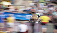 Frederic Brun (FRA/Bretagne-S&eacute;ch&eacute; Environnement) speeding along<br /> <br /> stage 1 prologue: Utrecht (13.8km)<br /> Tour de France 2015