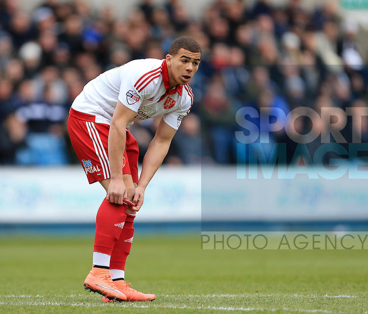 Sheffield United's Che Adams in action during the League One match at The Den.  Photo credit should read: David Klein/Sportimage