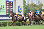 Jockey Hugh Bowman (L) riding Lucky Bubbles competes during the Chairman's Sprint Prize (1200m) on 07 May 2017, at the Sha Tin Racecourse  in Hong Kong, China. Photo by Chris Wong / Power Sport Images
