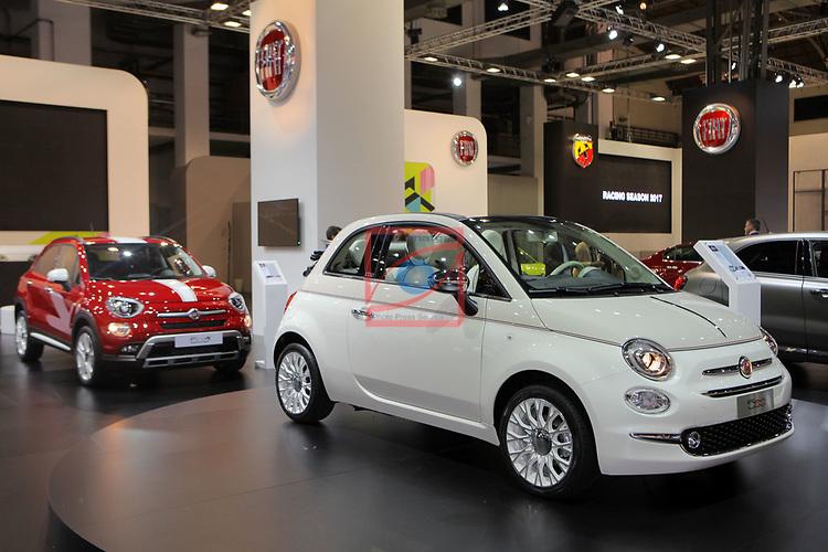 Automobile Barcelona 2017.<br /> Stand Fiat.