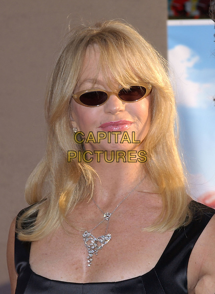 GOLDIE HAWN .Attend Touchstone Pictures' Los Angeles Premiere of Raising Helen held at The El Capitan Theatre .May 26th, 2004.headshot, portrait, sunglasses, shades, necklace, jewellery.www.capitalpictures.com.sales@capitalpictures.com.©Capital Pictures
