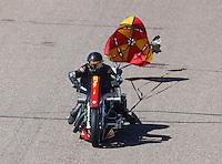 Feb 25, 2017; Chandler, AZ, USA; NHRA top fuel nitro Harley Davidson rider Rickey House during qualifying for the Arizona Nationals at Wild Horse Pass Motorsports Park. Mandatory Credit: Mark J. Rebilas-USA TODAY Sports