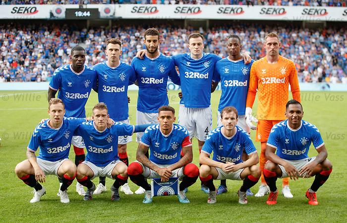 25.07.2019 Rangers v Progres Niederkorn: Rangers team