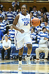 17 November 2012: Duke's Chelsea Gray. The Duke University Blue Devils played the Presbyterian College Blue Hose at Cameron Indoor Stadium in Durham, North Carolina in an NCAA Division I Women's Basketball game. Duke won the game 84-45.