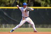 South Dakota State JackRabbits infielder Al Robbins (21) during a game against the Georgetown Hoyas at South County Regional Park on March 9, 2014 in Port Charlotte, Florida.  Georgetown defeated South Dakota 7-4.  (Mike Janes/Four Seam Images)