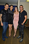 MIAMI, FL - FEBRUARY 14: Leoni Torres, Yuliet Torres, Annaby Pozo, Randy Malcom Martinez of Gente de Zona backstage during a concert at James L. Knight Center on February 14, 2017 in Miami, Florida.  ( Photo by Johnny Louis / jlnphotography.com )
