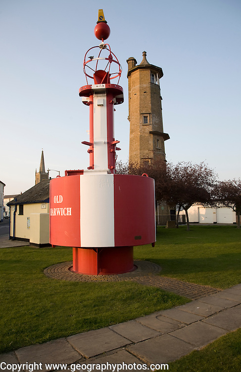 Old Harwich buoy and high lighthouse, Harwich, Essex