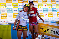 Burleigh Heads, Queensland, Australia: Saturday February 9 2013: .Sally Fitzgibbons (AUS)  defeated Courtney Conlogue (USA) this afternoon in the inaugural Breaka Burleigh Pro at Burleigh Point.  Conlogue controlled the final for most of the time before Fitzgibbons broke back with a 9.0 ride to take the lead and eventually the win. .They ran the Men's Round of 16  today with top seed Mick Fanning (AUS)  being eliminated before the Women's Quarters, Semis and Final..Photo: joliphotos.com