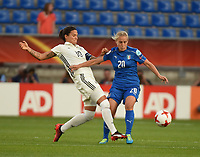20170721 - TILBURG , NETHERLANDS : German Dzsenifer Maroszan (L) and Italian Valentina Cernoia (R) pictured during the female soccer game between Germany and Italy  , the second game in group B at the Women's Euro 2017 , European Championship in The Netherlands 2017 , Friday 21 th June 2017 at Stadion Koning Willem II  in Tilburg , The Netherlands PHOTO SPORTPIX.BE | DIRK VUYLSTEKE