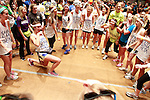 Dancers form a circle and dance at DanceBlue on March 3, 2012 in Memorial Coliseum.