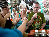Food market visit during a Los Dos cooking workshop with chef David Sterling in Merida, Yucatan, Mexico.