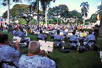 The Royal Hawaiian band performing outdoor concert