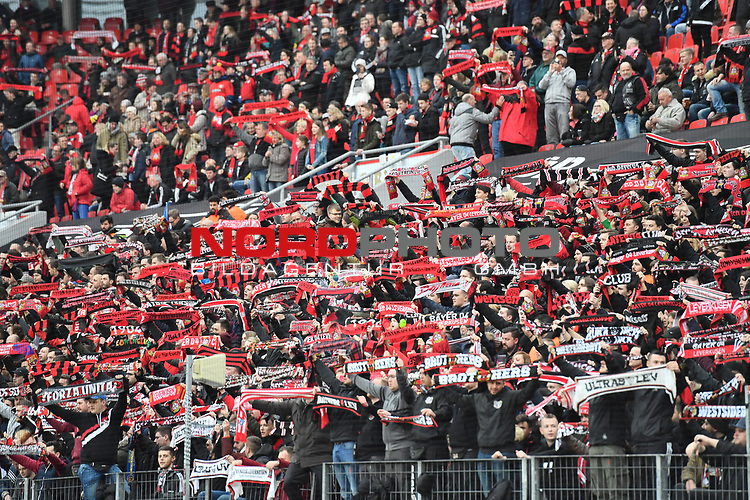 28.01.2018, BayArena, Leverkusen, GER, 1.FBL, Bayer 04 Leverkusen vs FSV Mainz 05,, im Bild Fankurve / Fans / Fanblock / Bayer 04 Leverkusen<br /> <br /> <br /> Foto &copy; nordphoto / Mauelshagen