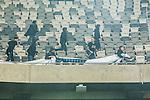 ***BETALBILD***  <br /> Stockholm 2015-05-25 Fotboll Allsvenskan Djurg&aring;rdens IF - AIK :  <br /> AIK:s supportrar har tagit en banderoll fr&aring;n Djurg&aring;rdens supportrar efter matchen mellan Djurg&aring;rdens IF och AIK <br /> (Foto: Kenta J&ouml;nsson) Nyckelord:  Fotboll Allsvenskan Djurg&aring;rden DIF Tele2 Arena AIK Gnaget supporter fans publik supporters slagsm&aring;l br&aring;k fight fajt gruff