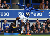 9th September 2017, Goodison Park, Liverpool, England; EPL Premier League Football, Everton versus Tottenham; Cuco Martina of Everton chests the ball down