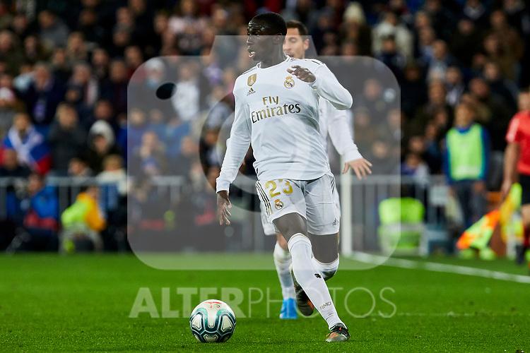 Ferland Mendy of Real Madrid during La Liga match between Real Madrid and Real Sociedad at Santiago Bernabeu Stadium in Madrid, Spain. November 23, 2019. (ALTERPHOTOS/A. Perez Meca)