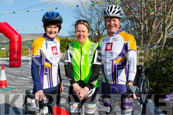 Carmel Kelly, Annie Horgan and Pat Keoghan at theTour De Ballyfinnane cycle in aid of Ballyfinnane Primary School on Saturday