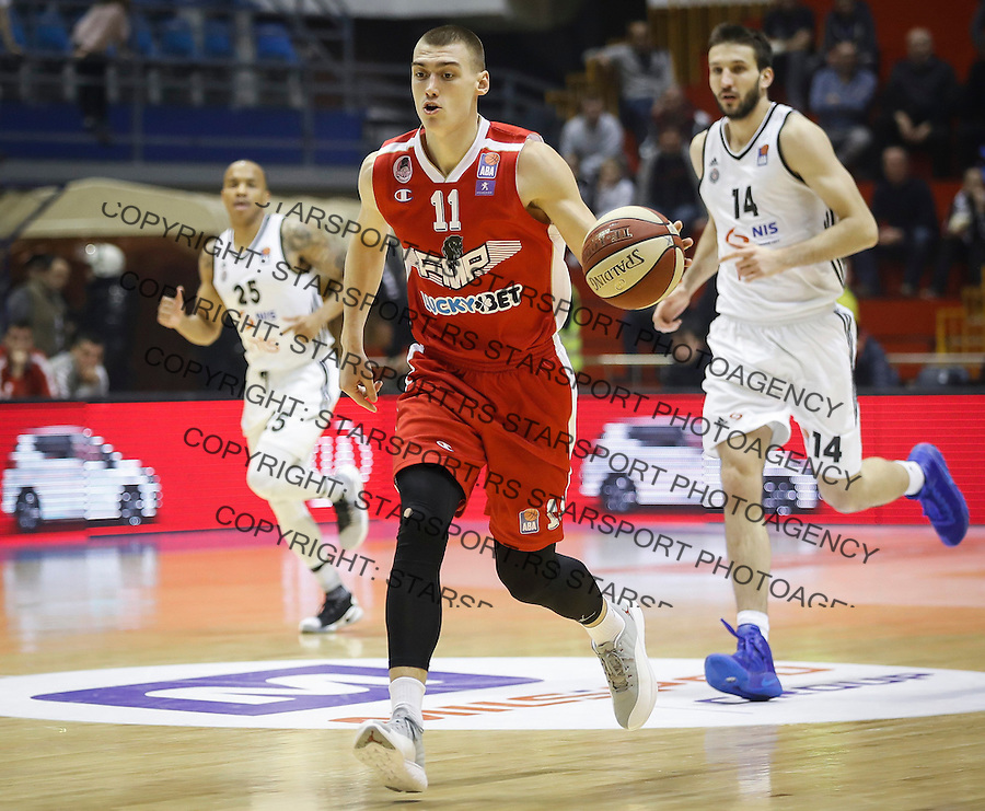 Kosarka ABA League season 2016-2017<br /> Partizan v FMP<br /> Stefan Lazarevic (C)<br /> Beograd, 21.01.2017<br /> foto: Srdjan Stevanovic/Starsportphoto &copy;