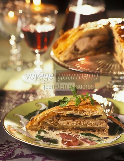 Gastronomie Générale/Repas de Réveillon: Tourte de faisan aux pommes de terre