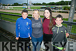 l-r  Jack Foley, Siobhan Foley, Jade O'Connor and Jason O'Connor from Killorglin  enjoying a night out at the Dogs at the Kingdom Greyhound Stadium on Friday night.