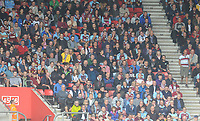 Burnley fans watch their team in action <br /> <br /> Photographer Kevin Barnes/CameraSport<br /> <br /> The Premier League - Southampton v Burnley - Sunday August 12th 2018 - St Mary's Stadium - Southampton<br /> <br /> World Copyright &copy; 2018 CameraSport. All rights reserved. 43 Linden Ave. Countesthorpe. Leicester. England. LE8 5PG - Tel: +44 (0) 116 277 4147 - admin@camerasport.com - www.camerasport.com