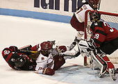 Heather Mottau (NU - 26), Caitrin Lonergan (BC - 11), Kristyn Capizzano (BC - 7), Brittany Bugalski (NU - 39) - The Boston College Eagles defeated the Northeastern University Huskies 2-1 to win the Beanpot on Monday, February 7, 2017, at Matthews Arena in Boston, Massachusetts.