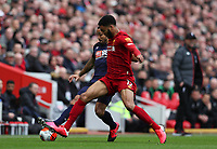 7th March 2020; Anfield, Liverpool, Merseyside, England; English Premier League Football, Liverpool versus AFC Bournemouth; Junior Stanislas of Bournemouth competes for the ball with Joe Gomez of Liverpool