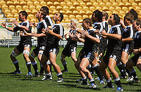 New Zealand performs the haka during the International rugby match between New Zealand Secondary Schools and Suncorp Australia Secondary Schools at Yarrows Stadium, New Plymouth, New Zealand on Friday, 10 October 2008. Photo: Dave Lintott / lintottphoto.co.nz