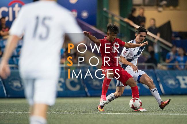 HKFA Red Dragons (in red) vs HKFC (in white), during their Main Tournament match, part of the HKFC Citi Soccer Sevens 2017 on 27 May 2017 at the Hong Kong Football Club, Hong Kong, China. Photo by Marcio Rodrigo Machado / Power Sport Images
