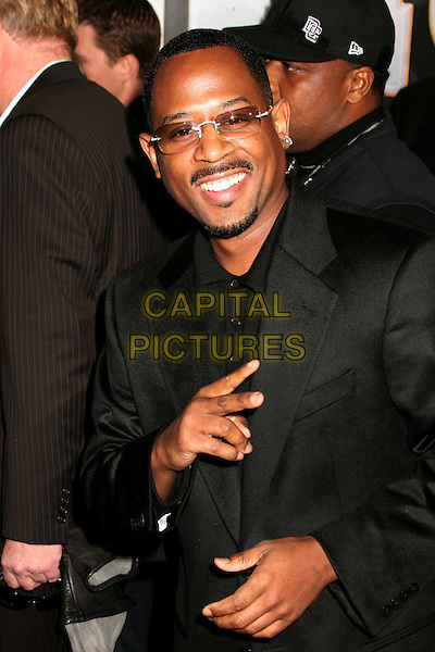 "MARTIN LAWRENCE.""Wild Hogs"" Los Angeles Premiere at the El Capitan Theatre, Hollywood, California, USA..February 27th, 2007.half length hand v peace sign glasses sunglasses shades mustache goatee facial hair black suit jacket .CAP/ADM/BP.©Byron Purvis/AdMedia/Capital Pictures"