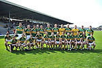 The Kerry Team, captained by Dr Crokes player Eoin Brosnan pictured before defeating Laois in the NFL, in Killarney on Sunday..Picture by Don MacMonagle