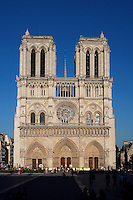 West façade, Notre Dame de Paris, 1163 ? 1345, initiated by the bishop Maurice de Sully, Ile de la Cité, Paris, France. Picture by Manuel Cohen