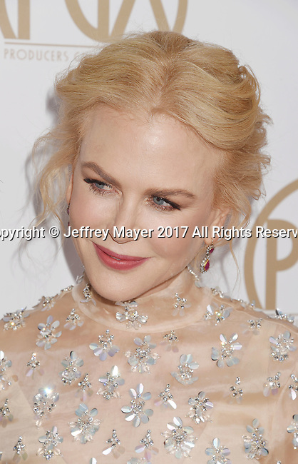 HOLLYWOOD, CA - JANUARY 28: Singer-musician Nicole Kidman arrives at the 28th Annual Producers Guild Awards at The Beverly Hilton Hotel on January 28, 2017 in Beverly Hills, California.
