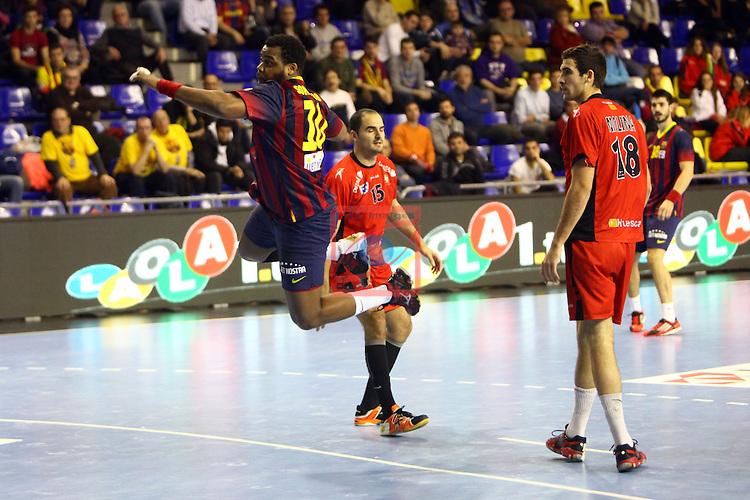 XXIV Copa ASOBAL - Game: 2<br /> FC Barcelona vs BM Huesca: 39-25.<br /> Cedric Sorhaindo.