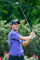 Webb Simpson (USA) watches his tee shot on 4 during round 3 of the Dean &amp; Deluca Invitational, at The Colonial, Ft. Worth, Texas, USA. 5/27/2017.<br /> Picture: Golffile | Ken Murray<br /> <br /> <br /> All photo usage must carry mandatory copyright credit (&copy; Golffile | Ken Murray)