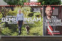 Vienna, Austria. Presidential Elections 2016. Election posters. Alexander van der Bellen (l.)