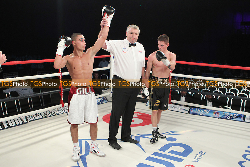 Jordan Gill vs Dan Naylor at the Bluewater Shopping centre Kent, promoted by Hennessy Sports - 13/10/12 - MANDATORY CREDIT: Chris Royle/TGSPHOTO - Self billing applies where appropriate - 0845 094 6026 - contact@tgsphoto.co.uk - NO UNPAID USE..