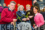 Sean O'Connor, Mary O'Connor, Sean O Conchubhar and Cait Uí Chonchúir at the Gaeilscoil Mich Easmann Grandparents Day and Blessings of St. Bridgets Crosses on Monday