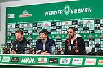 12.03.2018, Weserstadion, Bremen, GER, 1.FBL, SV Werder Bremen vs 1. FC Koeln<br /> <br /> im Bild<br /> &Uuml;bersicht / Uebersicht, Florian Kohfeldt (Trainer SV Werder Bremen), Michael Rudolph (Direktor Kommunikation Werder Bremen), Stefan Ruthenbeck (Trainer 1. FC Koeln), <br /> <br /> Foto &copy; nordphoto / Ewert