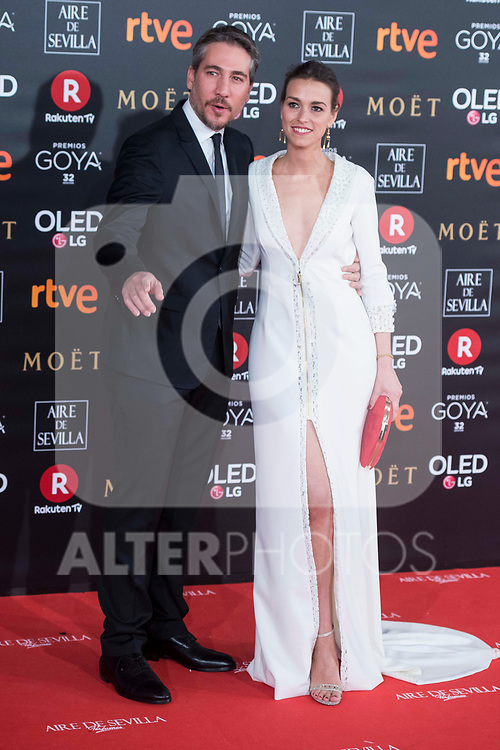 Alberto Aman and Clara Mendez attends red carpet of Goya Cinema Awards 2018 at Madrid Marriott Auditorium in Madrid , Spain. February 03, 2018. (ALTERPHOTOS/Borja B.Hojas)