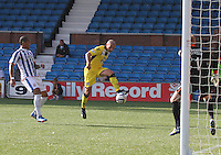 Player/Coach Jim Goodwin shoots in the Kilmarnock v St Mirren Scottish Professional Football League Premiership match played at Rugby Park, Kilmarnock on 13.9.14.