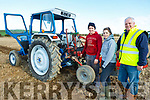 Shane Godley, Veronica Heaslip and James Godley from Ballymac, ready for drills and skills at the Abbeydorney Ploughing on Sunday.