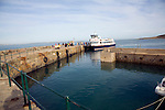Ferry at quayside Island of Herm, Channel Islands, Great Britain